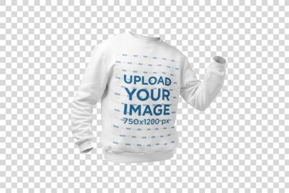Mockup of a Ghosted Men's Sweatshirt 26961