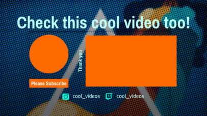 YouTube End Screen Maker with Cool Design 1268b