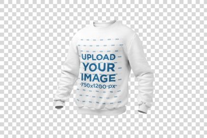 Mockup of a Ghosted Crewneck Sweatshirt over a Solid Background 26960