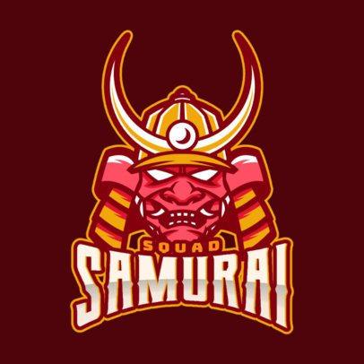 eSports Logo Maker With Samurai Clipart 1749f