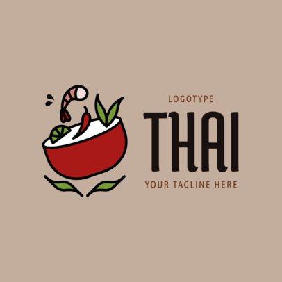 Modern Thai Restaurant Logo Creator 1844