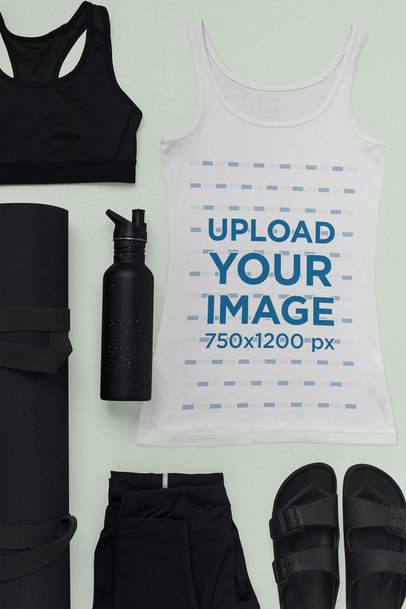 Tank Top Mockup of a Fresh Outfit for Yoga 26424