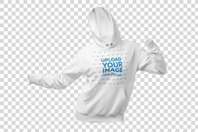 Ghosted Pullover Hoodie Mockup of an Invisible Model Dancing at a Studio 26957
