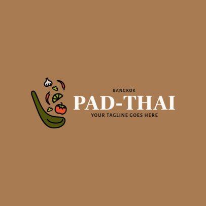Online Logo Generator for a Modern Thai Cuisine Restaurant 1844f