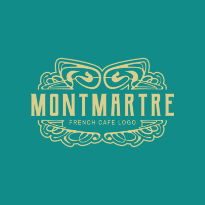 Traditional Logo Maker for a French Cafe Spot