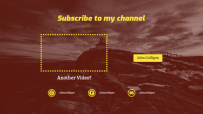 YouTube End Card Maker with a Subscribe Now Invite