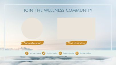 YouTube End Card Design Template for a Wellness Vlog 1264d