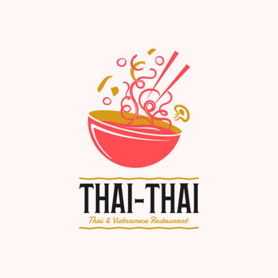 Restaurant Logo Maker with Thai Food Clipart 1838