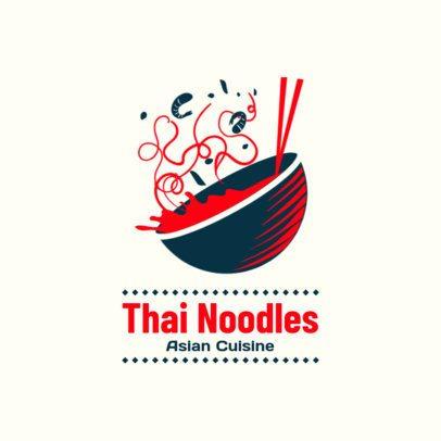 Restaurant Logo Maker for a Thai Noodles Place 1838a