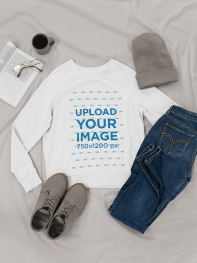 Sweatshirt Mockup of a Relaxed Outfit 26335