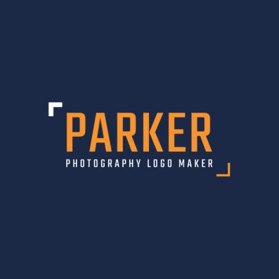 Minimalistic Logo Maker for a Professional Photographer 2171b