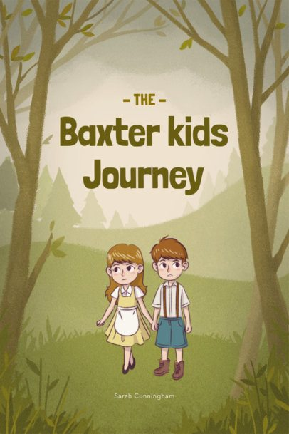 Children's Book Cover Maker for an Adventure Story 541a