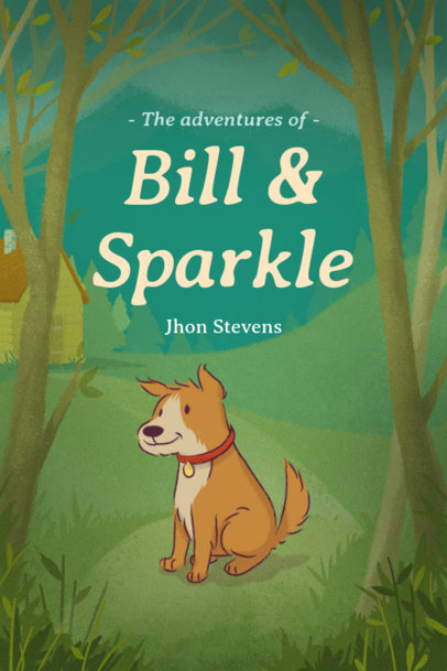 Children's Book Cover Maker with a Cute Dog Illustration