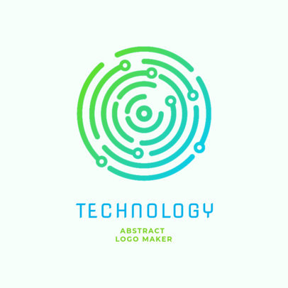 Tech Online Logo Maker with a Simple Design 2176c