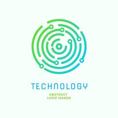 Tech Online Logo Maker with a Simple Design 2176c