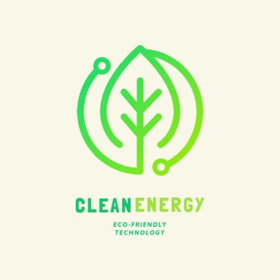 Renewable Energy Online Logo Maker with a Leaf Clipart 2176d