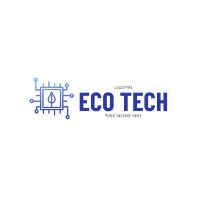 Tech Company Logo with an Ecology Focus 2174