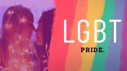 LGBTQ Youtube Video Thumbnail Design Template 1299a
