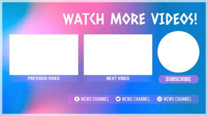 YouTube End Card Creator with an Invitation to Watch More 1259e