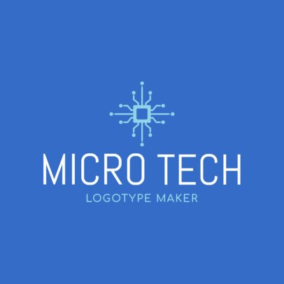Nanotech Logo Template with Minimalistic Design 1135f