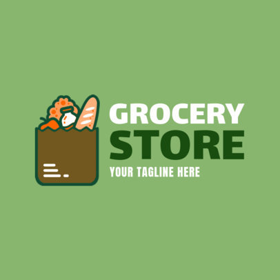 Online Logo Maker for a Grocery Store with Bag Icon 1190a