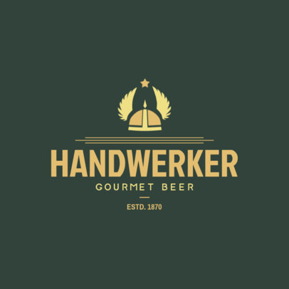 Gourmet Craft Beer Logo Template 1654c