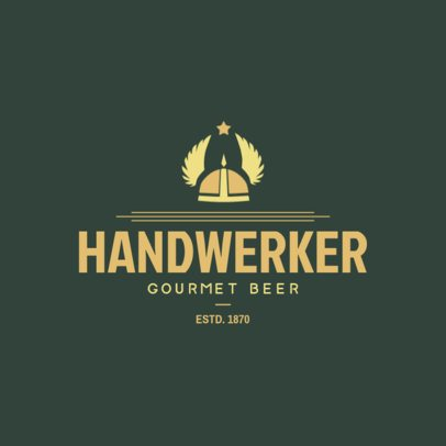 Gourmet Craft Beer Logo Template 1654c