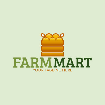 Farmers Market Logo Maker with Crate Clipart 1190c