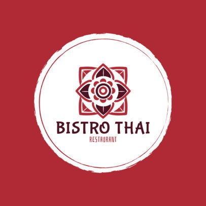 Thai Food Logo Maker for an Elegant Bistro Place 1839b