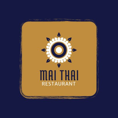 Simple Thai Restaurant Logo Generator 1839e