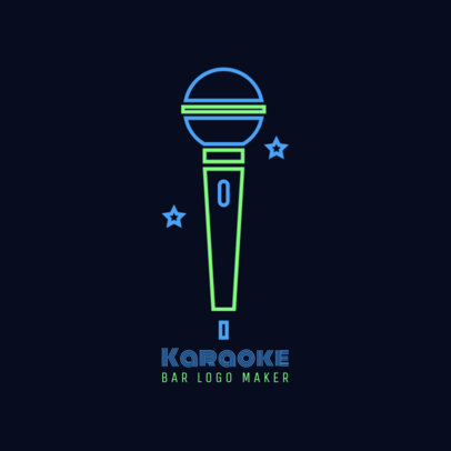 Karaoke Bar Logo Maker 1680c