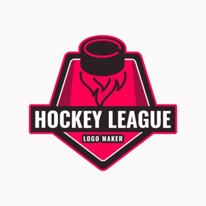 Hockey League Logo Maker 1562b