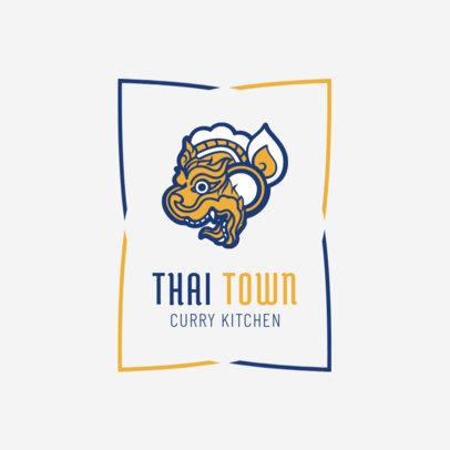 Thai Restaurant Logo Template for a Curry Kitchen 1841b