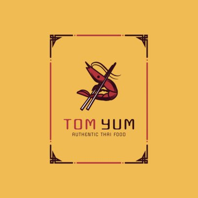 Cool Thai Food Logo Maker for a Spicy Thai Restaurant 1841d