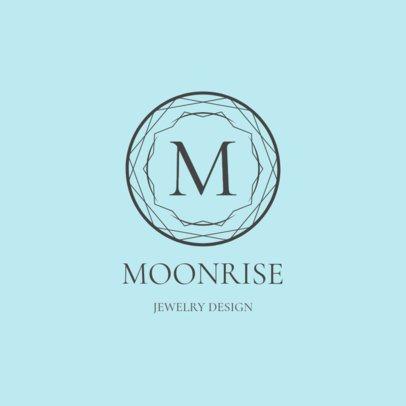Luxury Jewelry Logo Maker with a Minimalist Emblem 2190