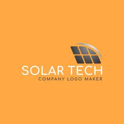 Ecotechnology Company Logo Maker with a Solar Panel Graphic 2173e