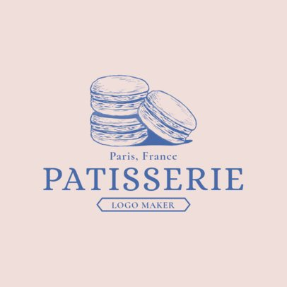 Patisserie Logo Maker for French Desserts 1113b