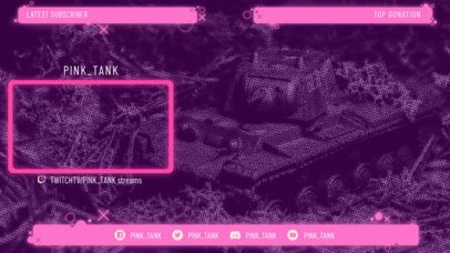 Twitch Overlay Generator with Neon Panels 1242b