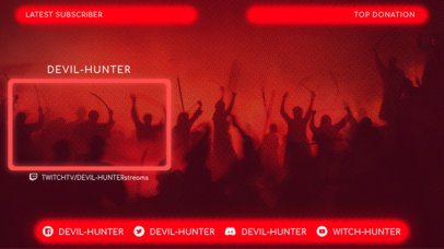 Cool Twitch Overlay Template for Gaming Live Streams 1242e