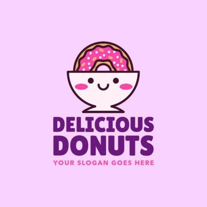 Cute Logo Creator for a Donut Bakery 1029d