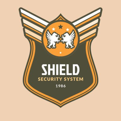 Logo Template for a High-End Security System 1786b