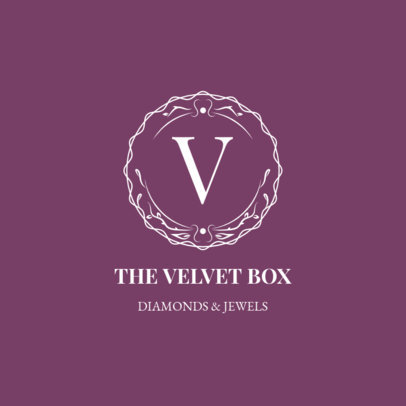 Luxurious Jewellery Store Logo Maker with a Simple Round Badge