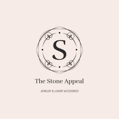 Fancy Jewelry Logo Template for an Elegant Jewelry Shop 2190d