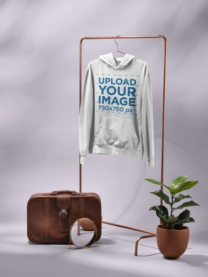 Minimalistic Hoodie Mockup Featuring a Setting with a Hipster Vibe 27404