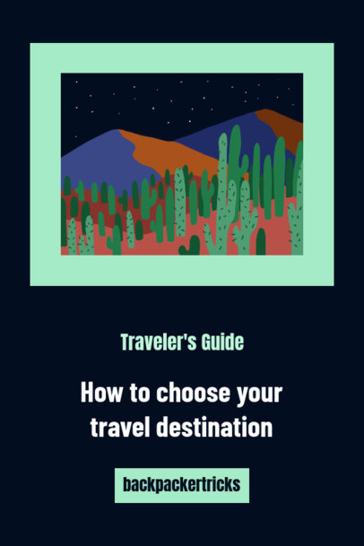 Pinterest Pin Template for a Budget Travel Destination Guide 1126c