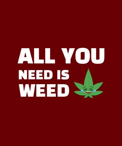 T-Shirt Design Template with Pro-Cannabis Theme 1409