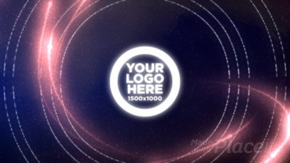 Abstract Logo Reveal Video Maker with Particle Motion Graphics 1506