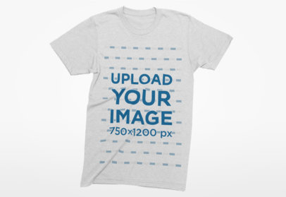 Mockup of a T-Shirt with a Plain Background 5-el