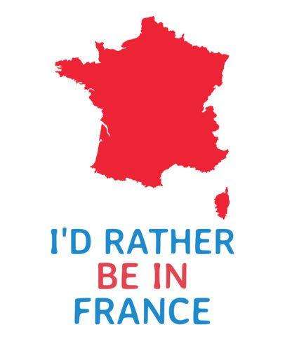France Map Silhouette T-Shirt Design Generator 1414a