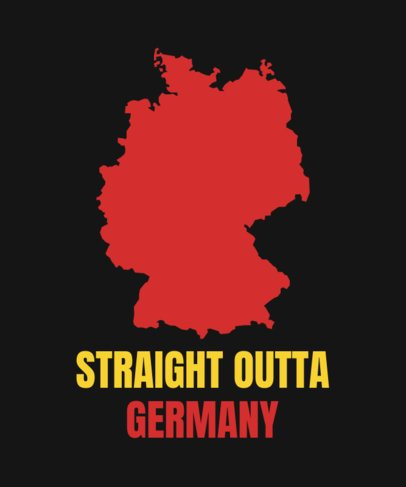 T-Shirt Design Template with a German Geographic Map 1414c